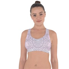 Pink Mandala Art  Cross String Back Sports Bra by paulaoliveiradesign