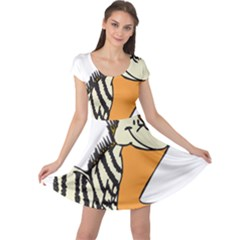 Zebra Animal Alphabet Z Wild Cap Sleeve Dress
