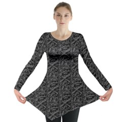 Skulls Long Sleeve Tunic  by greenthanet