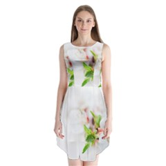 Fragility Flower Petals Tenderness Leaves  Sleeveless Chiffon Dress   by amphoto