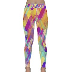 Colorful Abstract Background Classic Yoga Leggings by TastefulDesigns