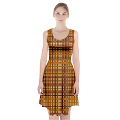 Plaid Pattern Racerback Midi Dress by linceazul