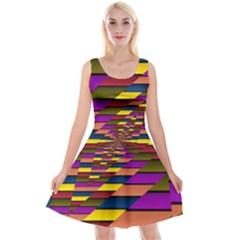 Autumn Check Reversible Velvet Sleeveless Dress by designworld65