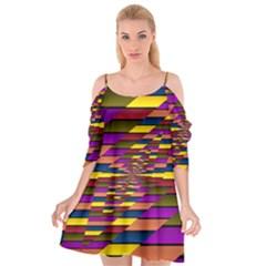 Autumn Check Cutout Spaghetti Strap Chiffon Dress by designworld65