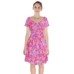 The Big Pink Party Short Sleeve Bardot Dress by designworld65