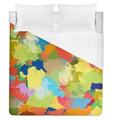 Summer Feeling Splash Duvet Cover (queen Size) by designworld65