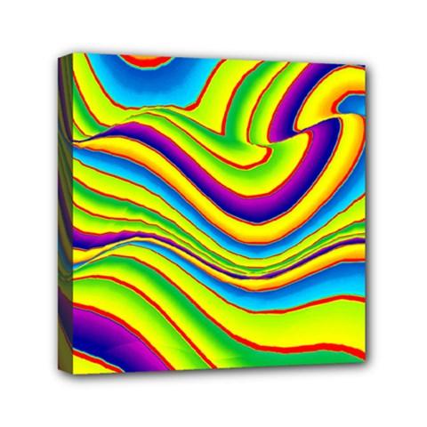 Summer Wave Colors Mini Canvas 6  X 6  by designworld65