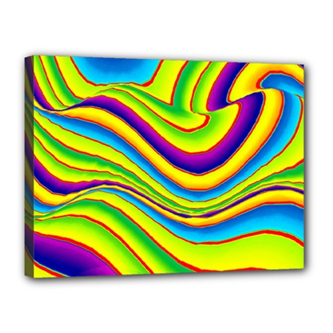 Summer Wave Colors Canvas 16  X 12  by designworld65