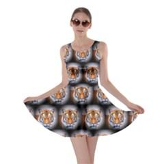 Cute Animal Drops   Tiger Skater Dress by MoreColorsinLife