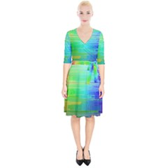 Colors Rainbow Pattern Wrap Up Cocktail Dress by paulaoliveiradesign