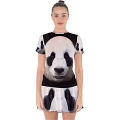 Panda Face Drop Hem Mini Chiffon Dress by Valentinaart