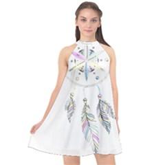 Dreamcatcher  Halter Neckline Chiffon Dress  by Valentinaart