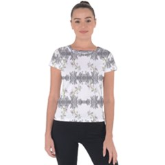 Floral Collage Pattern Short Sleeve Sports Top  by dflcprintsclothing