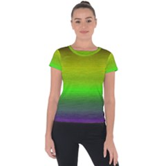 Ombre Short Sleeve Sports Top  by ValentinaDesign