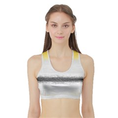 Ombre Sports Bra With Border by ValentinaDesign