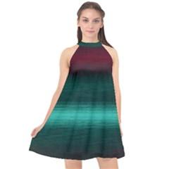 Ombre Halter Neckline Chiffon Dress  by ValentinaDesign