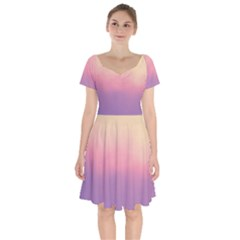 Ombre Short Sleeve Bardot Dress