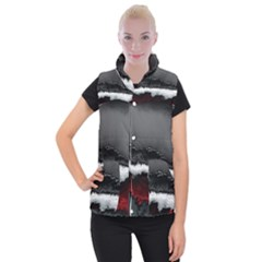 Ombre Women s Button Up Puffer Vest by ValentinaDesign