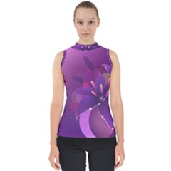 Flowers Lily Lilac Shine  Shell Top by amphoto