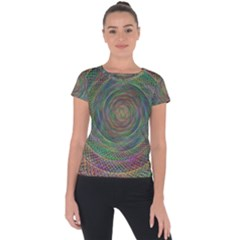 Spiral Spin Background Artwork Short Sleeve Sports Top  by Nexatart