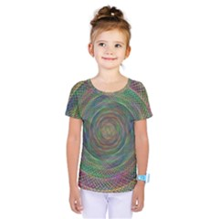 Spiral Spin Background Artwork Kids  One Piece Tee