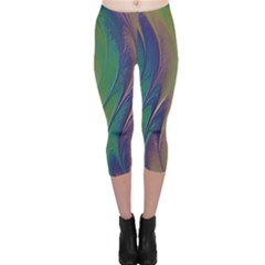 Texture Abstract Background Capri Leggings