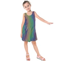 Texture Abstract Background Kids  Sleeveless Dress