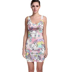 Unicorn Rainbow Bodycon Dress by Nexatart