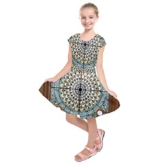 Stained Glass Window Library Of Congress Kids  Short Sleeve Dress