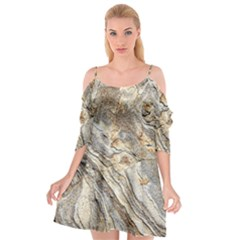 Background Structure Abstract Grain Marble Texture Cutout Spaghetti Strap Chiffon Dress by Nexatart