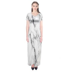 Marble Granite Pattern And Texture Short Sleeve Maxi Dress by Nexatart