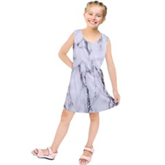 Marble Granite Pattern And Texture Kids  Tunic Dress by Nexatart