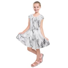 Marble Granite Pattern And Texture Kids  Short Sleeve Dress by Nexatart
