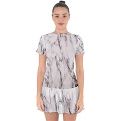 Marble Granite Pattern And Texture Drop Hem Mini Chiffon Dress by Nexatart