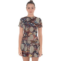 Marbling Drop Hem Mini Chiffon Dress by Nexatart