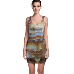 Wall Marble Pattern Texture Bodycon Dress