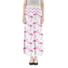 Flamingo Pattern Full Length Maxi Skirt by Valentinaart