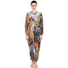 Texture Patterns Strokes  Onepiece Jumpsuit (ladies)  by amphoto