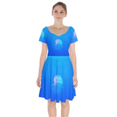 Jellyfish Short Sleeve Bardot Dress by Valentinaart
