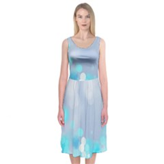 Highlights Circles Light  Midi Sleeveless Dress by amphoto