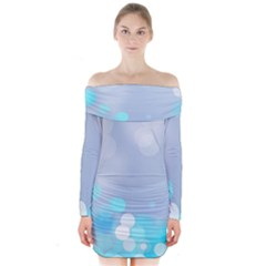 Highlights Circles Light  Long Sleeve Off Shoulder Dress by amphoto