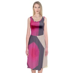 Allen Form Light  Midi Sleeveless Dress by amphoto
