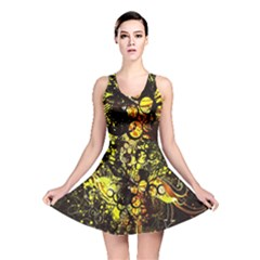 Circles Lines Background  Reversible Skater Dress by amphoto