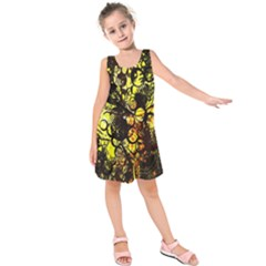 Circles Lines Background  Kids  Sleeveless Dress by amphoto
