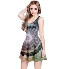 Circle Figures Background  Reversible Sleeveless Dress by amphoto