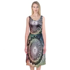 Circle Figures Background  Midi Sleeveless Dress by amphoto