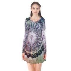Circle Figures Background  Flare Dress by amphoto
