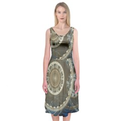 2299 Circles Light Gray 3840x2400 Midi Sleeveless Dress by amphoto