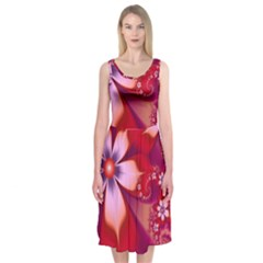 2480 Flowers Petals Red 3840x2400 Midi Sleeveless Dress by amphoto
