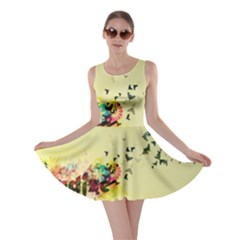 2398 Flight Sky Butterflies 3840x2400 Skater Dress by amphoto